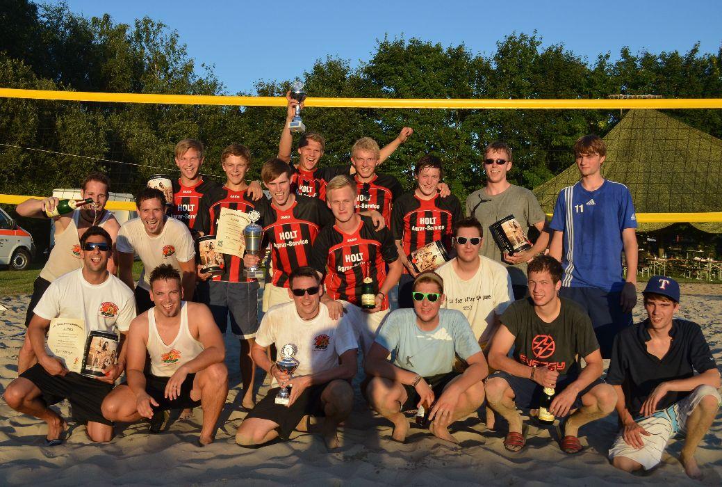 Die drei Siegermannschaften 2012