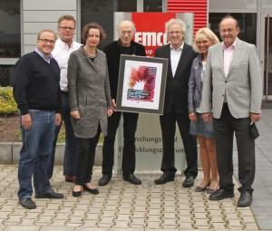 Schirmherr Harald Müller und Vorsitzende des Kulturforums St. Michael Gabriele Stegmann freuen sich mit den Leitern der Jury, dass sie wieder tolle Preisträger gefunden haben.